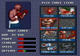 "Evander Holyfield's ""Real Deal"" Boxing Genesis Between fights, you can choose three types of training to improve your fighter abilities."