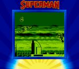 Superman Game Boy Superman is blinking because he just took a hit.