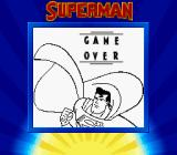 Superman Game Boy Game over