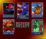 Marvel Super Heroes in War of the Gems SNES Character select