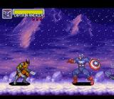 Marvel Super Heroes in War of the Gems SNES Captain America isn't too fond of regular Wolverine, so it's a good bet his likes his evil doppelganger even less.