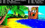 Robinson Crusoe Amstrad CPC Choose what supplies to take