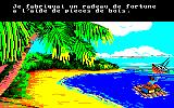 Robinson Crusoe Amstrad CPC Returning on a newly constructed raft