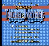 Thunder & Lightning NES Title screen