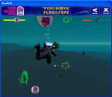Tek-Kids Flash-Ops: Mission: Aqua Zone Windows Gameplay with several Taco Bell power-ups in view.