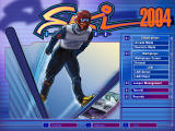 Ski Jumping 2004 Windows Title screen and main menu