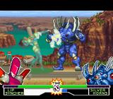 Mighty Morphin Power Rangers: The Fighting Edition SNES After a fast power-up, Lipsyncher is about to hit-sing Silver Horns through her move Music Strike...
