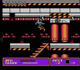 Zen: Intergalactic Ninja NES Side scrolling action in the oil rig stage