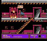 Zen: Intergalactic Ninja NES Approaching a door with a trapped oil rig worker