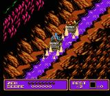 Zen: Intergalactic Ninja NES Crossing through water, fighting a cart-going enemy