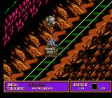 Zen: Intergalactic Ninja NES Rocks bouncing on the tracks