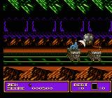 Zen: Intergalactic Ninja NES Switching to straight side-scrolling view, another enemy throws rocks at you