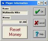 Video Casino Games Windows 3.x Dialog to begin a new game