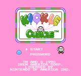 Kickle Cubicle NES American title screen