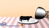 WarioWare: Smooth Moves Wii Cover the cow to make a delicious meal.