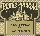 Prince of Persia Game Boy Title Screen