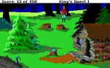 Roberta Williams' King's Quest I: Quest for the Crown DOS Outside a house