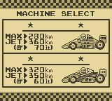 F-1 Race Game Boy Select Machine
