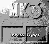 Mortal Kombat 3 Game Boy Title screen