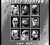 Mortal Kombat 3 Game Boy Character select