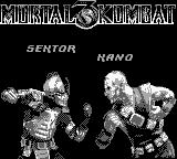 Mortal Kombat 3 Game Boy Sektor vs Kano