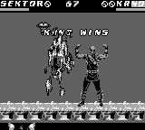 Mortal Kombat 3 Game Boy One of Kano's fatalities
