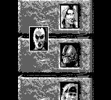 Mortal Kombat 3 Game Boy seeing the list of opponents you must defeat