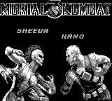 Mortal Kombat 3 Game Boy Sheeva vs Kano