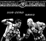 Mortal Kombat 3 Game Boy Sub-Zero vs Kano