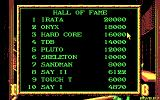Boston Bomb Club DOS High score table (CGA)