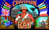 Champion of the Raj DOS Title screen (EGA)