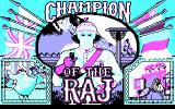 Champion of the Raj DOS Title screen (CGA)