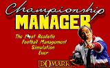 Championship Manager DOS Title screen