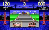 Cisco Heat: All American Police Car Race DOS Pick a car. (EGA)