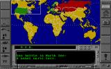 The Final Conflict DOS World map at game start, default Cold War scenario