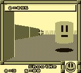 "Faceball 2000 Game Boy ""Shootme"" enemies are easily taken care of."