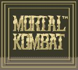 Mortal Kombat Game Boy Title Screen