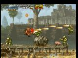 Metal Slug: Super Vehicle - 001 PlayStation After having equipped the Heavy Machine Gun, Marco Rossi starts to hit-kill the first enemy soldier!