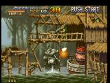 Metal Slug: Super Vehicle - 001 PlayStation Riding the Metal Slug, Marco Rossi finds a soldier-protected section: a cannon shot it's enough...