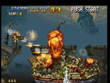 Metal Slug: Super Vehicle - 001 PlayStation An enemy boat are approaching, and Marco Rossi uses the acquired Rocket Launcher to sink-destroy it!