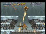 Metal Slug: Super Vehicle - 001 PlayStation Through the Heavy Machine Gun, Marco Rossi briefly surrounds Allen O'Neil using lots of air shots.