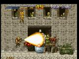 Metal Slug: Super Vehicle - 001 PlayStation Marco Rossi finds a huge building: and he's concentrating the Shotgun ammo in an explosive barrel...