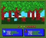 Akanbe Dragon MSX Fighting in the woods