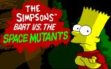 The Simpsons: Bart vs. the Space Mutants DOS Title screen