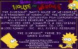 The Simpsons: Bart's House of Weirdness DOS Splash screen