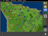 V for Victory: Battleset 1 - D-Day Utah Beach - 1944 DOS A conspicuously Macintosh-like top toolbar