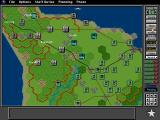 V for Victory: Battleset 1 - D-Day Utah Beach - 1944 DOS Switching to the HQ menu in the top right