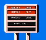 Lee Trevino's Fighting Golf NES Select your play mode