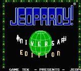 Jeopardy!: 25th Anniversary Edition NES Title screen