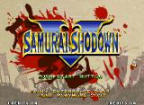 Samurai Shodown V Neo Geo Title screen.